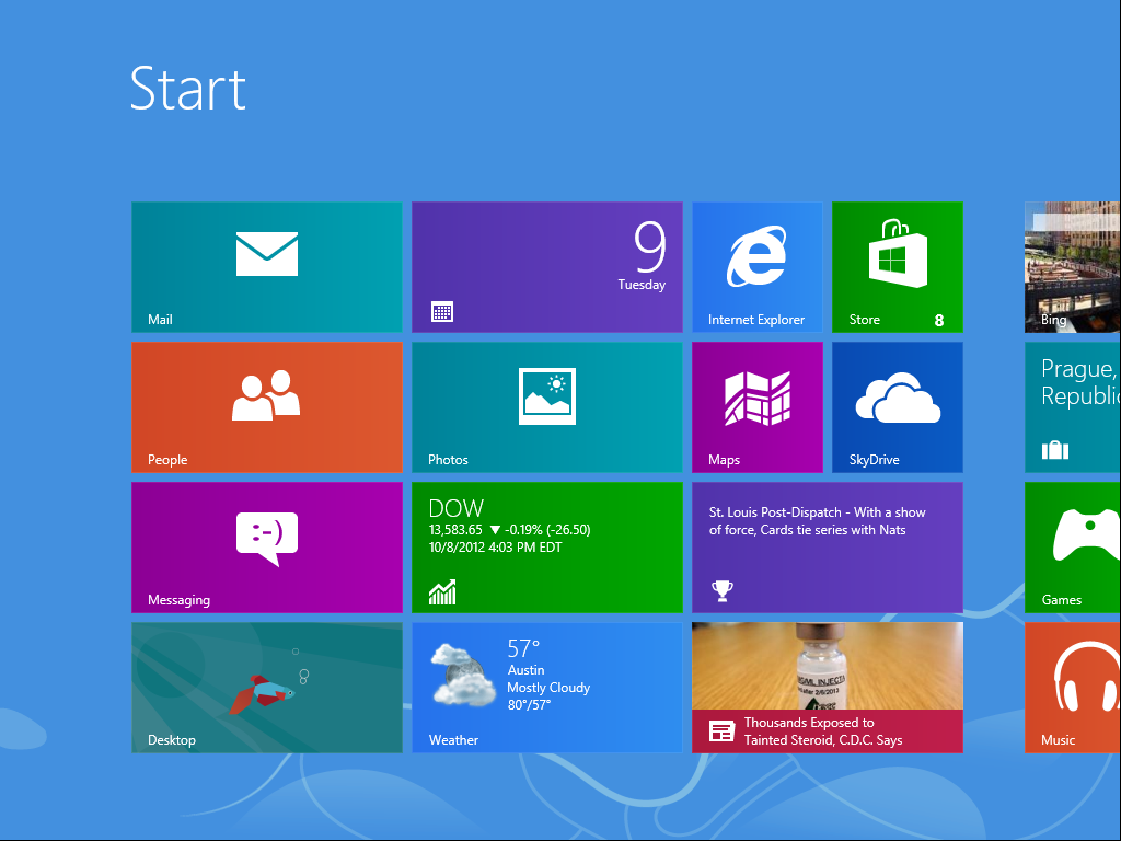 start for windows 8